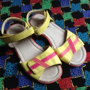 SEE KAI RUN yellow leather sandals 12